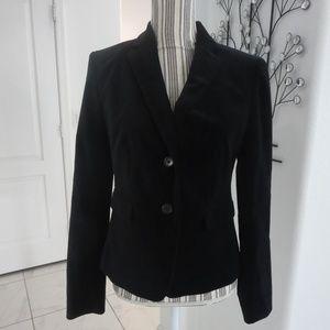 New ANN TAYLOR Black Velvet Jacket Blazer